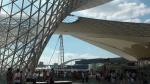 Wieder ein Foto von der Expo-Achse, im Hintergrund die Lupu-Brücke...
