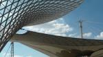 Ein Blick auf die Membranstruktur der Expo-Achse