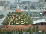 Der Indien-Pavillion aus dem Kulturzentrum fotografiert. Auch um ihn zu besichtigen muss man lange anstehen.