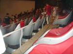 In diesem Kinosaal sieht man den 2D-Film, allerdings mit beweglichen Sitzen