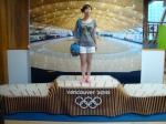 Im Vancouver-Pavillion darf natürlich eine Tribüne der olympischen Winterspielen nicht fehlen.