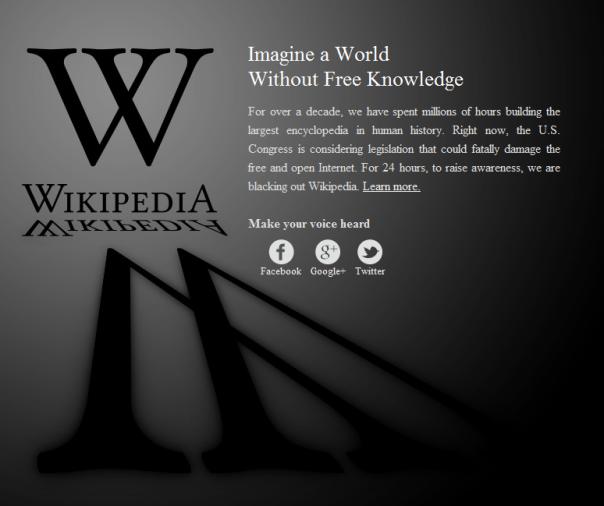 Wikipedias Ersatzseite für 24 Stunden