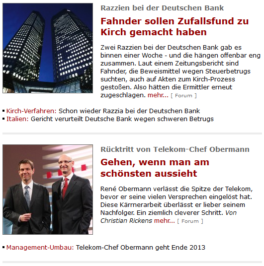Spiegel Online Screenshot