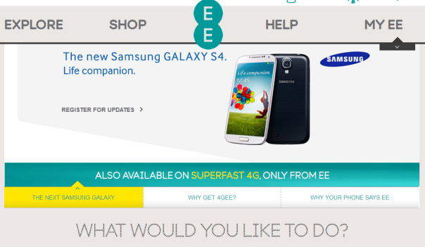 EE hat das HTC One in seinem Online-Shop versteckt.