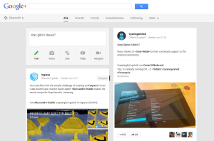 google plus feed screenshot