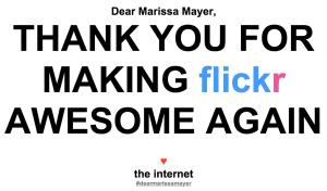 Eine der größten Coups von Mayer: Ein komplettes Flickr-Redesign