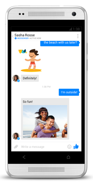 Das neue Design des Facebook Messenger